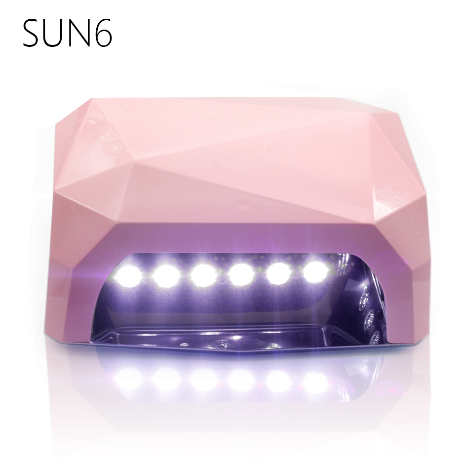 Sun6 36w Uv Lamp Led Nail Dryer Sun Light 365 405nm Diamond Shaped Curing For Gel Nails Polish Art Tools In Dryers From Beauty
