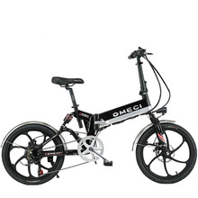 20inch Fold electric bicycle 48V lithium battery hidden in frame Front and rear double suspension 350-400w motor alloy  e-bike