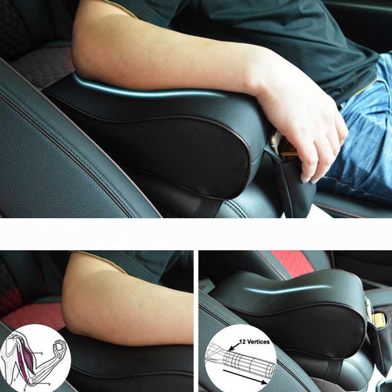 Автомобильный подлокотник из искусственной кожи AUTOYOUTH, пены памяти, универсальные автомобильные крышки подлокотников с карманом для телефона VW/BMW/AUDI/Honda