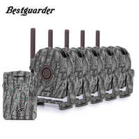 5pcs Infrared Detector + 1pc Receiver 300M range Hunting Trail Wild Trap Animal IR Wireless Alarm System Home Security