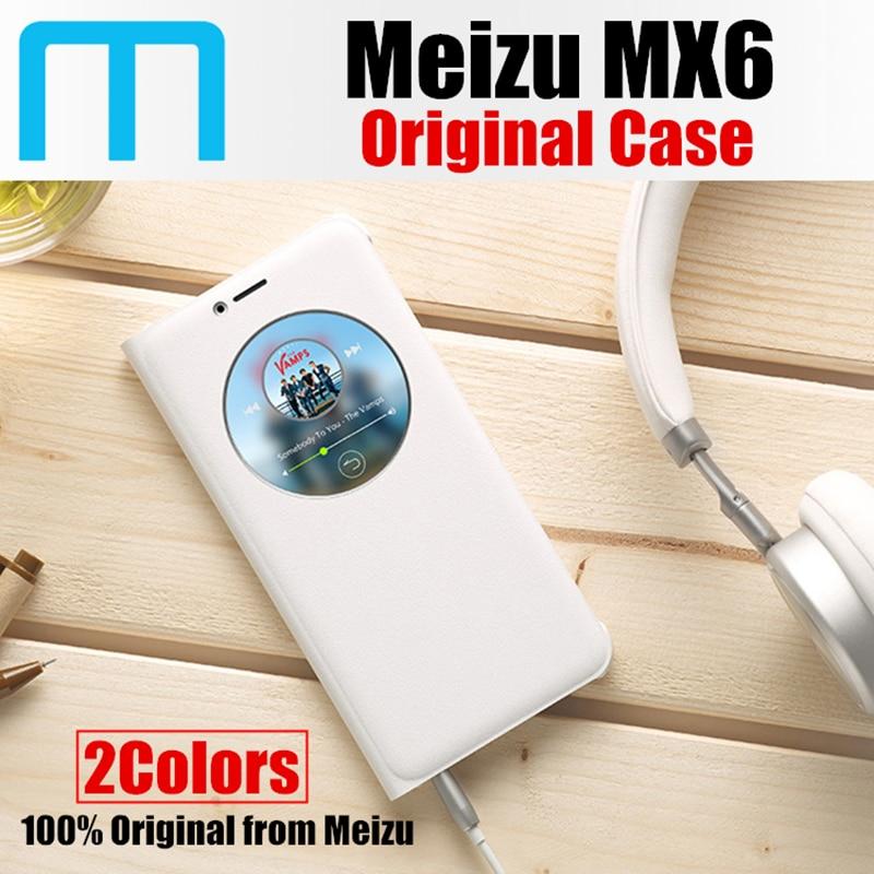 imágenes para Meizu mx6 Bucle Chaqueta de la cubierta del tirón inteligente caso 100% original de empresa meizu