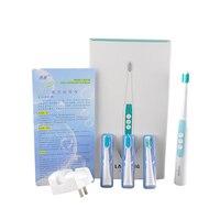 Lansung A1 звуковая акустическая волна Индуктивная Электрическая зубная щётка 5 уровней щетка скорость регулирование чистая система с 4 шт. ...