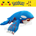 No.382 15inch 37cm Pokemon Center Kyogre Cute lovely Plush Toy Doll For Baby Gifts Stuffed Animal Wholesale Free shipping