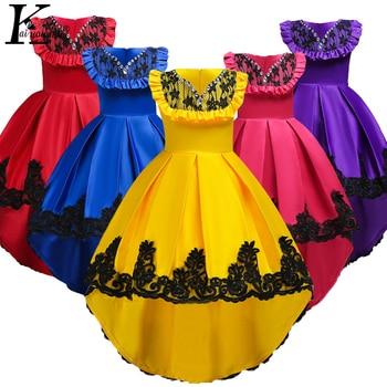 f0397c990 Vestidos para niñas vestido de Pascua para niños 2019 vestido de boda de  flores de verano para niñas vestido elegante de princesa para adolescentes