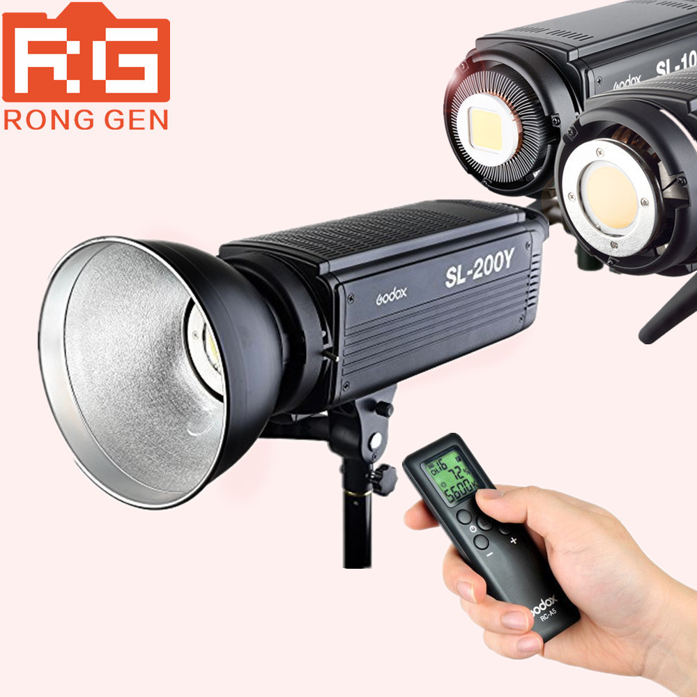 Godox SL-200Y 200WS Yellow Version LCD Panel LED Video Light Wireless Control for Wedding, Journalistic godox professional led video light led308y yellow version wireless 433mhz grouping system 308 led bulbs of high brightness