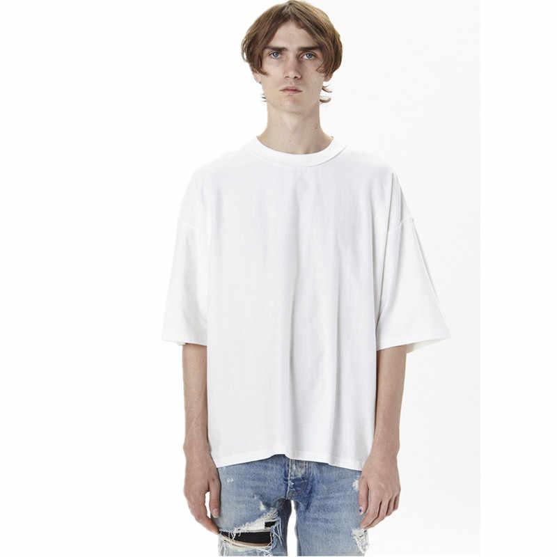 Оптовая цена негабаритная летняя дышащая футболка homme Kanye WEST одежда стильная футболка хип хоп Уличная Мужская футболка