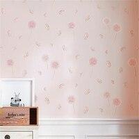 beibehang Wallpaper pastoral dandelion bedroom small fresh living room non woven Korean wallpaper children's room wallpaper