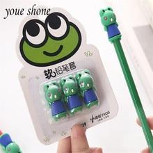 Youe Shone 3pcs/set Children Pencil Set Cap Cute Cartoon Extender Pupil Special Protection Cover Boxed