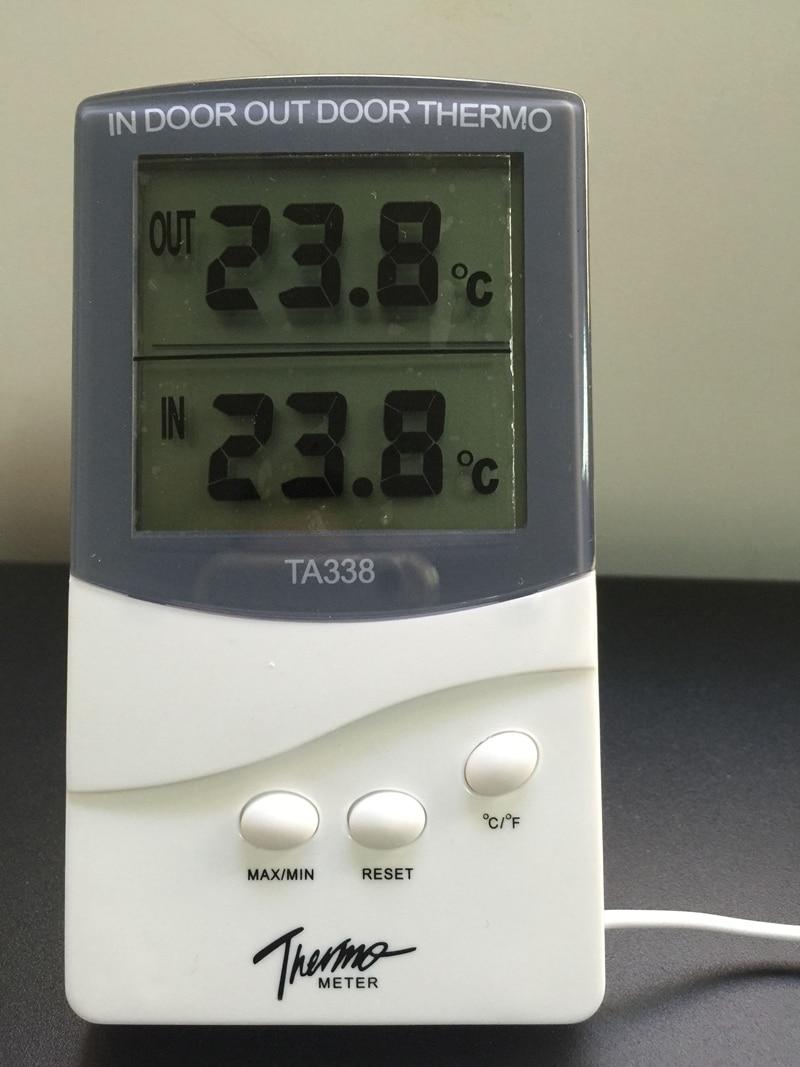 Digital indoor outdoor household thermometer weather for Bedroom temperature