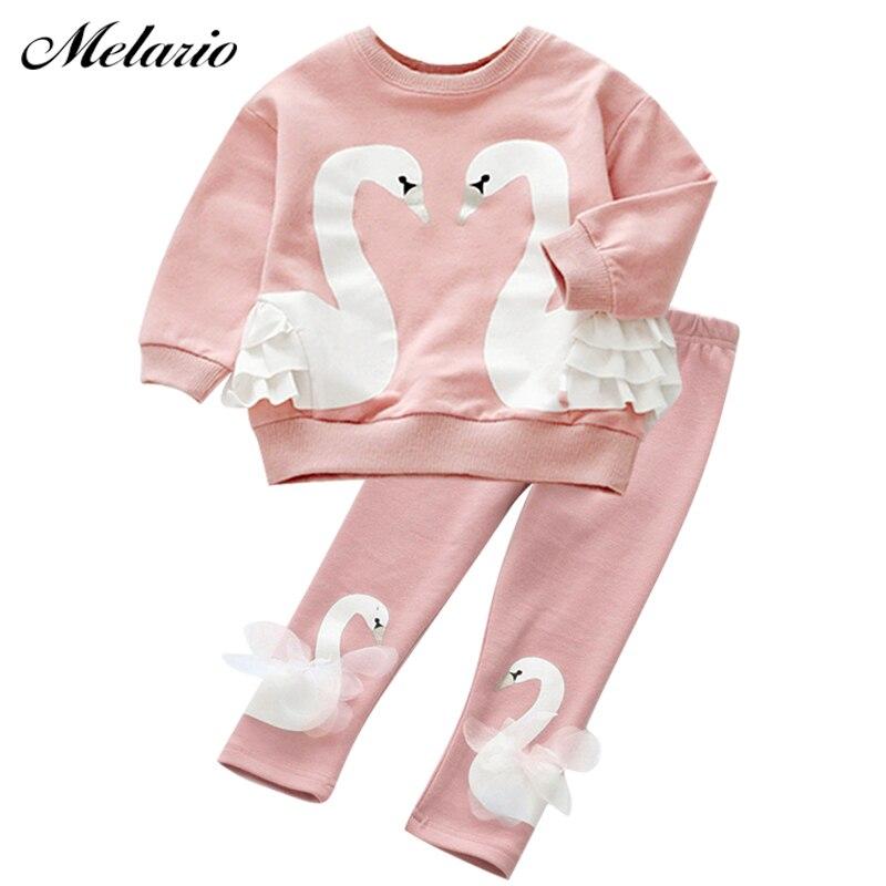 melario Baby Girls Autumn Long Sleeve Kids Clothing Sets