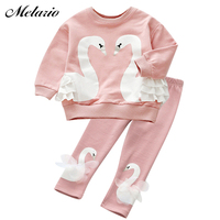 Baby Girls Clothing Sets 2016 Fashion Autumn Wool Sportswear Long Sleeve Roses Floral Embroidered Sequinsets Kids