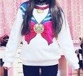 Каваи Сейлор Мун Толстовки Harajuku Толстовка Женщины Спортивный Костюм Одежда Милый Розовый Японский Балахон Весна Осень Зима