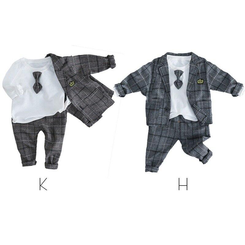 Toddler Kid Baby Boy Shirt Tops Coat Pants Outfits Set Gentleman Blazer Suit US