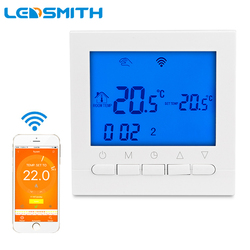 HY02B05 WIFI Gas Boiler Heating Thermostat AC220V Wifi Touch Screen Temperature Regulator for Boilers Weekly Programmable