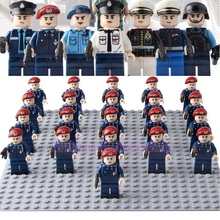 Marine Corps Flying Tigers Police Policeman Army Building Blocks Playmobil Minifigured Brick Toys Children Compatible Legoed attack of the morro dragon 70736 building blocks model toys for children bela 10400 compatible legoed ninja brick set