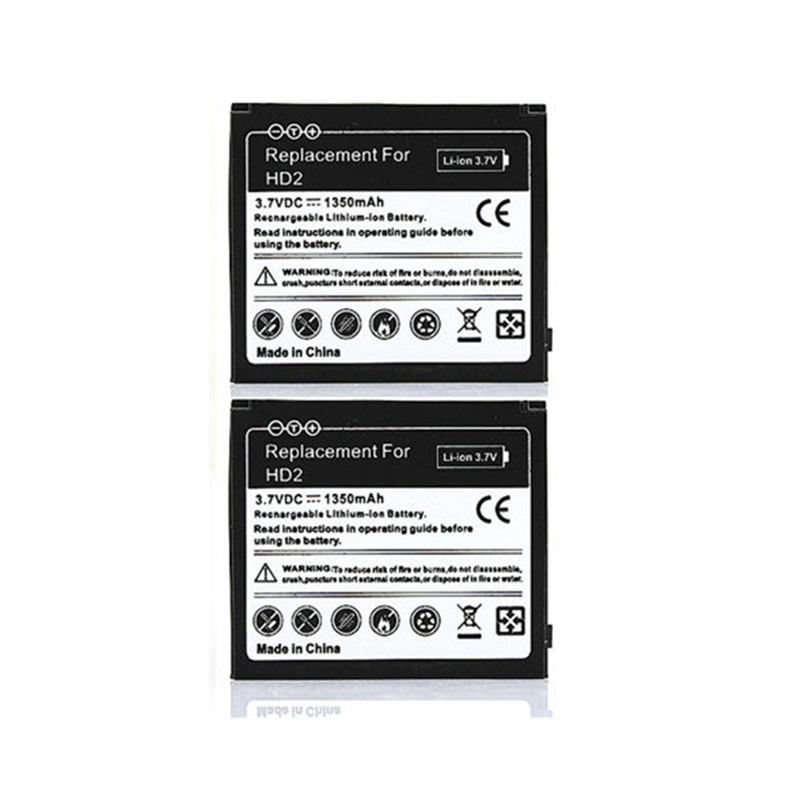3.7V 1350mAh Replacement Li-ion Phone Battery For <font><b>HTC</b></font> <font><b>HD2</b></font> Touch <font><b>HD2</b></font> <font><b>T8585</b></font> <font><b>HTC</b></font> LEO Cell Phone Rechargeable Commercial Bateria image