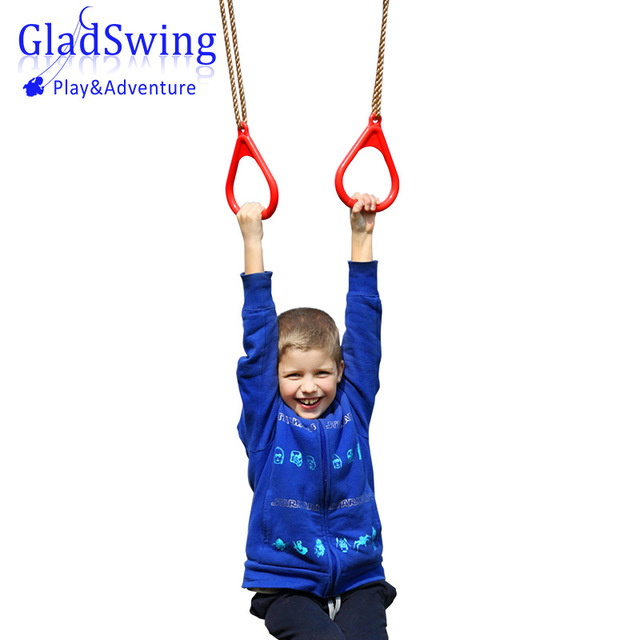 LK103 Plastic Rings Children Fitness Facility  Kids Flying Gym Rings  Pull Up Playground Toy Sports Equipment  Children Gift