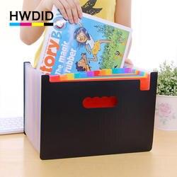 HWDID пластик A4/a4 Документ/папка для файлов/Органайзер/сумка/чехол для документов/расширение/файл Складная 24 кармана папка-удлинитель