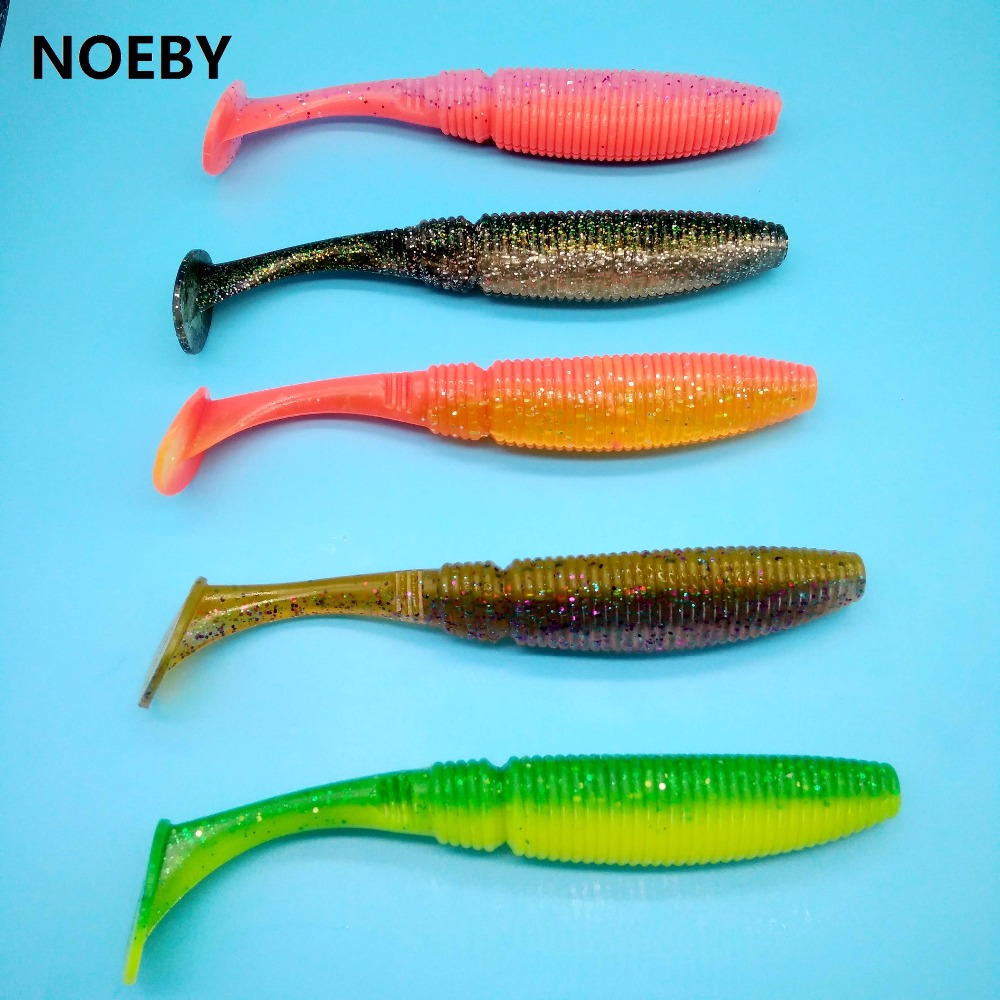 NOEBY 3pcs lot soft lure fishing lure 40g 17 5cm 5colors T Tail fishing lure Swimbaits Artificial Bait Silicone Lure 5019S in Fishing Lures from Sports Entertainment