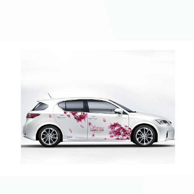 Car styling car covers car stickers elegant romantic cherry flowers girls personalized vehicle stickers