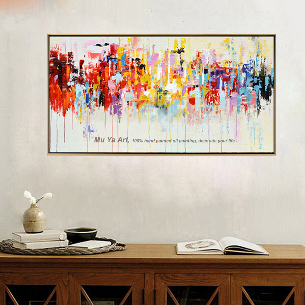 famous tableau peinture acrylic painting abstract canvas art rectangle modern hand painted. Black Bedroom Furniture Sets. Home Design Ideas