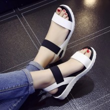 AARDIMI/женские босоножки; Летняя обувь; женские сандалии на плоской подошве без застежки с открытым носком; сандалии в римском стиле; Mujer Sandalias; женские вьетнамки