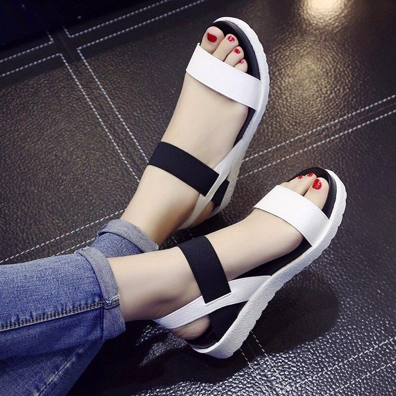 AARDIMI femmes sandales chaussures d'été Peep-toe sans lacet sandales plates pour femme Style romain sandale Mujer Sandalias dames tongs