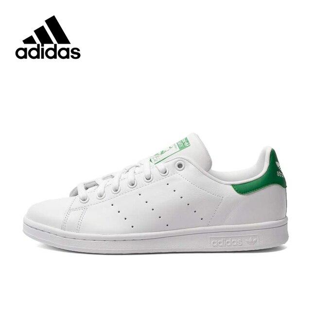 Zapatos de skateboard Stan Smith para hombre de Adidas Originals, zapatillas de deporte de nueva llegada auténticas, zapatos de plataforma de talla UK U