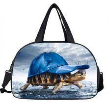3D Sea Turtles Shoulder Bag Duffle Funny Travel Bags For Women Men Handbags Functional Bags Shoes Holder Waterproof Luggage Bag