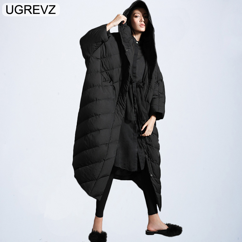 2019 Fashion Women's Down Jacket Winter Hooded Warm Long