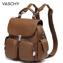 VASCHY Women Backpack Purse Anti Theft Cute Small Mini Convertible PU Leather Backpack Shoulder Bag for Ladies Teen Girls(China)