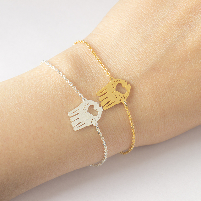 Stainless Steel Cute Giraffe Bracelets Bangles Gold Color Chain Love Silver For Women Wedding