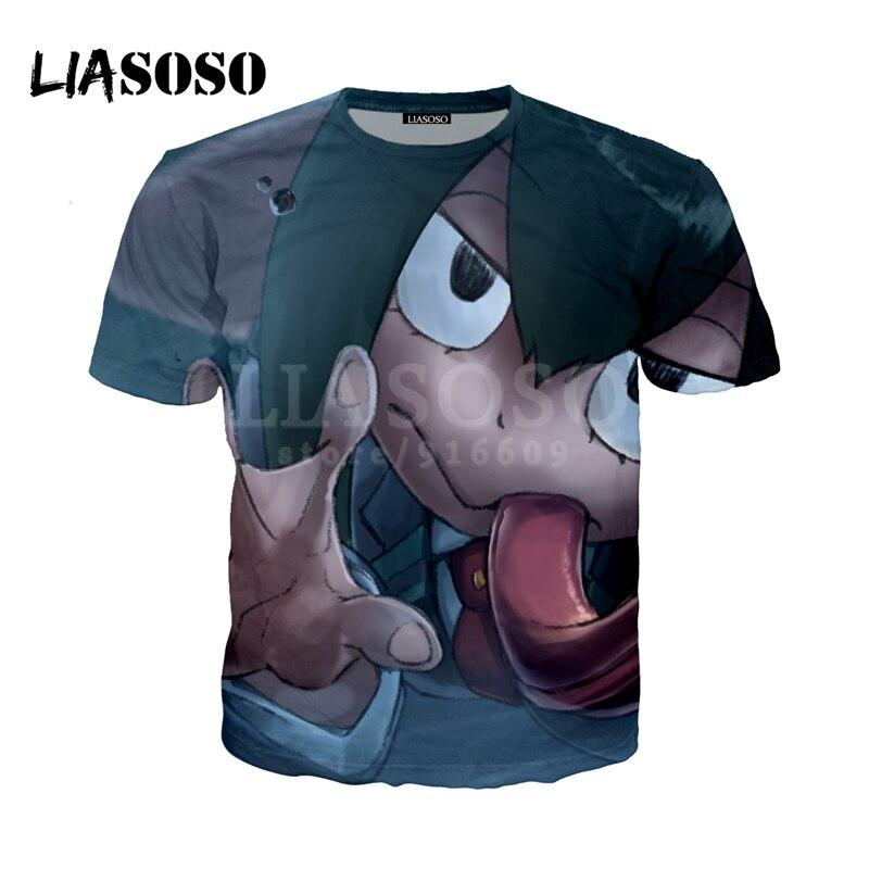 LIASOSO NEW Anime Boku No Hero My Hero Academia Cosplay Tees 3D Print t shirt/Hoodie/Sweatshirt Unisex Good Quality Tops G1381