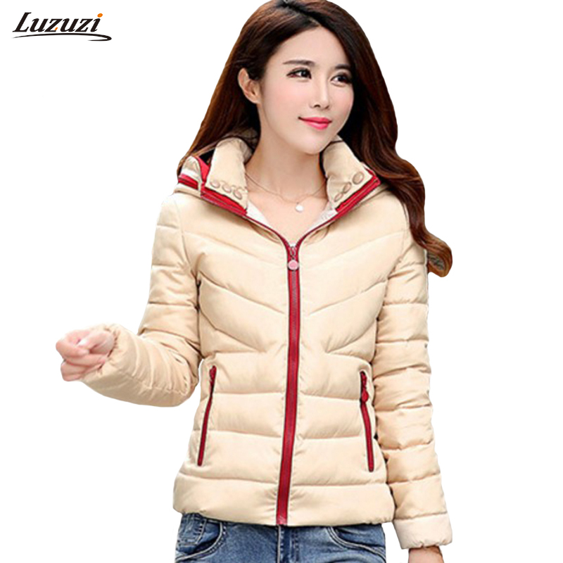 Women winter hooded jacket and coat woman cotton padded parka short wadded overcoat casaco feminino abrigos mujer Invierno WS516 qazxsw woman basic coat woman winter jacket for women woolen poncho jacket single button loose cotton padded abrigos mujer hb118