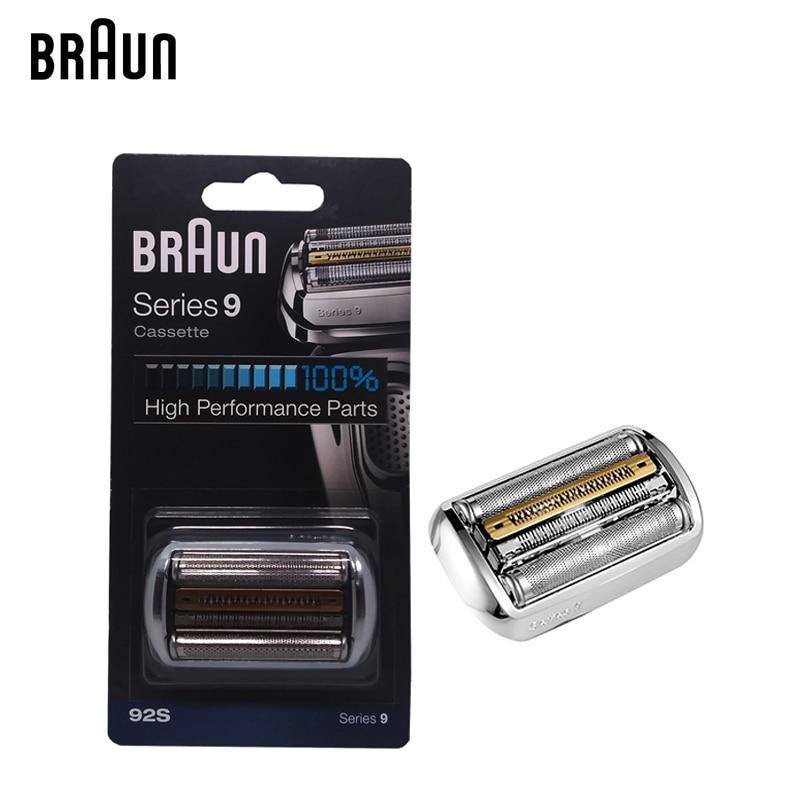 Braun 92s Series 9 Foil & Cutter Replacement Head Cassette Electric Shaver Razor Blade 9030s 9040s 9050cc 9090cc 9095cc razor replacement shaver head blate frame for philips hq6 hq6675 hq6990 hq6900 hq7615 hq6696 hq6868 spare blade free shipping