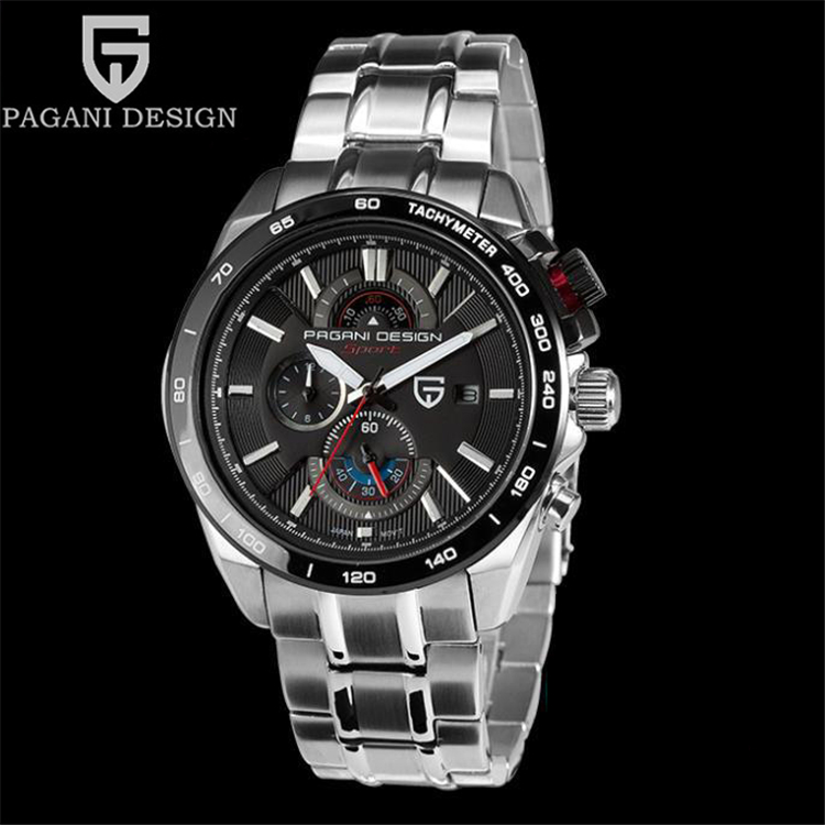 PAGANI DESIGN Mens Watches Top Brand Luxury Sport Quartz Wrist Watch Waterproof Military Army Clock Men Saat Relogio Masculino army military men sport watch relogio masculino valia brand leather waterproof date day hours quartz clock mens watches