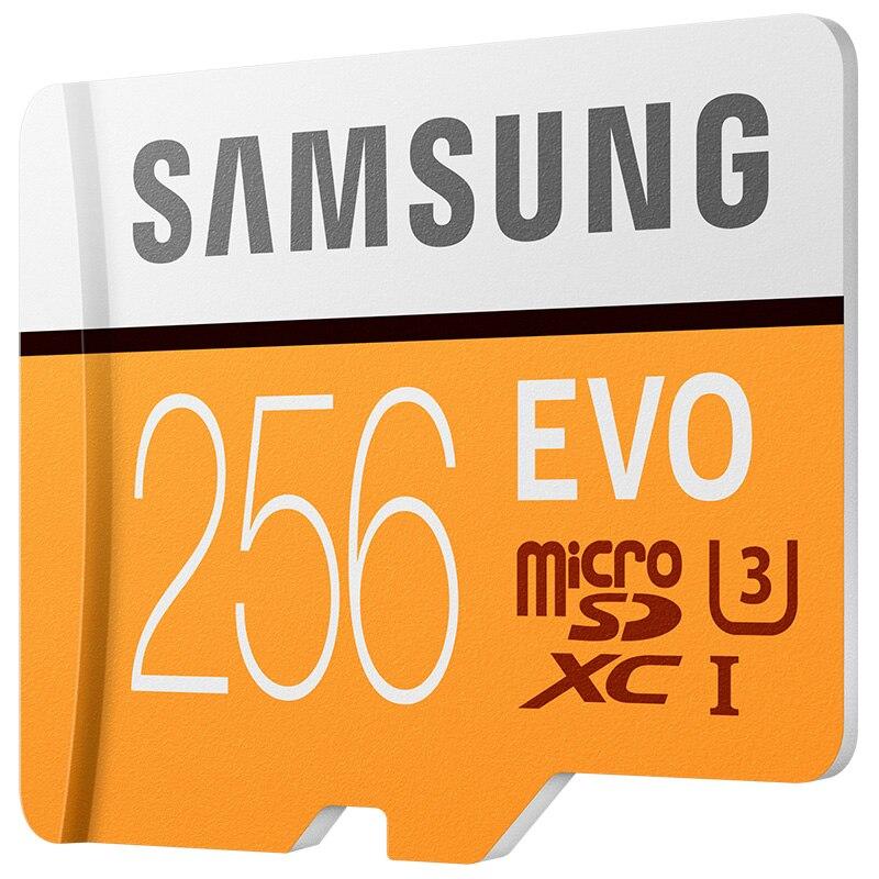 SAMSUNG carte mémoire EVO 256 GB Micro SD Class10 4 K Ultra HD carte MicroSD C10 UHS-I Flash Trans pour Samsung Galaxy S8 S7