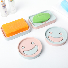 Cartoon smiling face double layers fashion Soap Box Bathroom Accessories