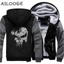 Super héroe El castigador cráneo sudaderas hombres 2018 nuevo invierno de  lana gruesa chaqueta con capucha Hoddie Streetwear Hip. c9803bbb3907