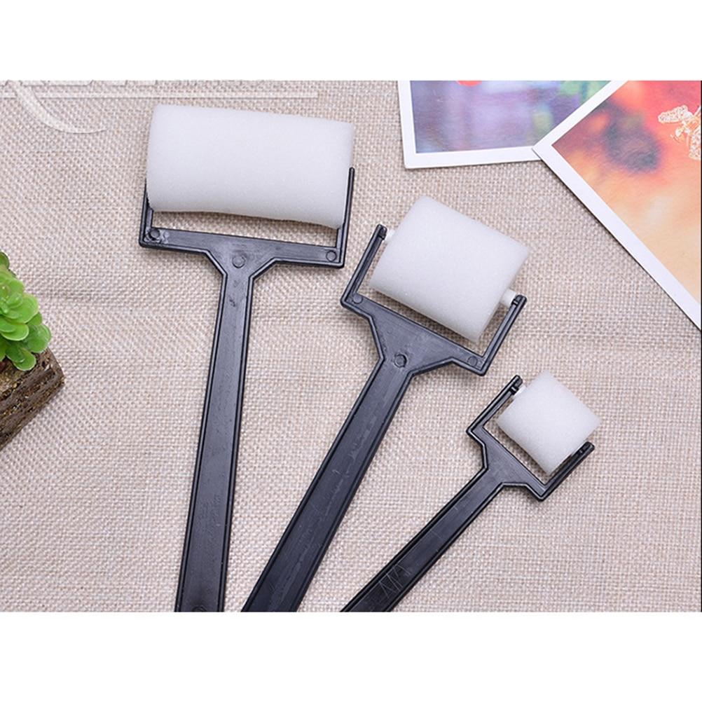 3pcs/set Foam White Sponge Brush  Painting Roller Brush Kids Craft Tool Drawing Toys Painting Supplies
