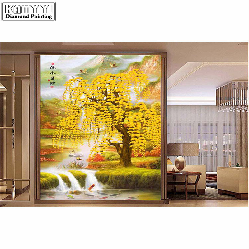 2018 New DIY Landscape Diamond Painting Tree and Birds Full Square /Round Diamonds Embroidery Home Decoration Accessories XY202018 New DIY Landscape Diamond Painting Tree and Birds Full Square /Round Diamonds Embroidery Home Decoration Accessories XY20