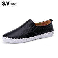 SV Brand High Quality Women Genuine Leather Shoes Slip On Flats Handmade Shoes Loafers Mocassin Women
