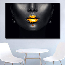 Africa Art Sexy Black Lips Canvas Painting For Living Room Wall Prints Home Decor free shipping dropshipping prints unframed
