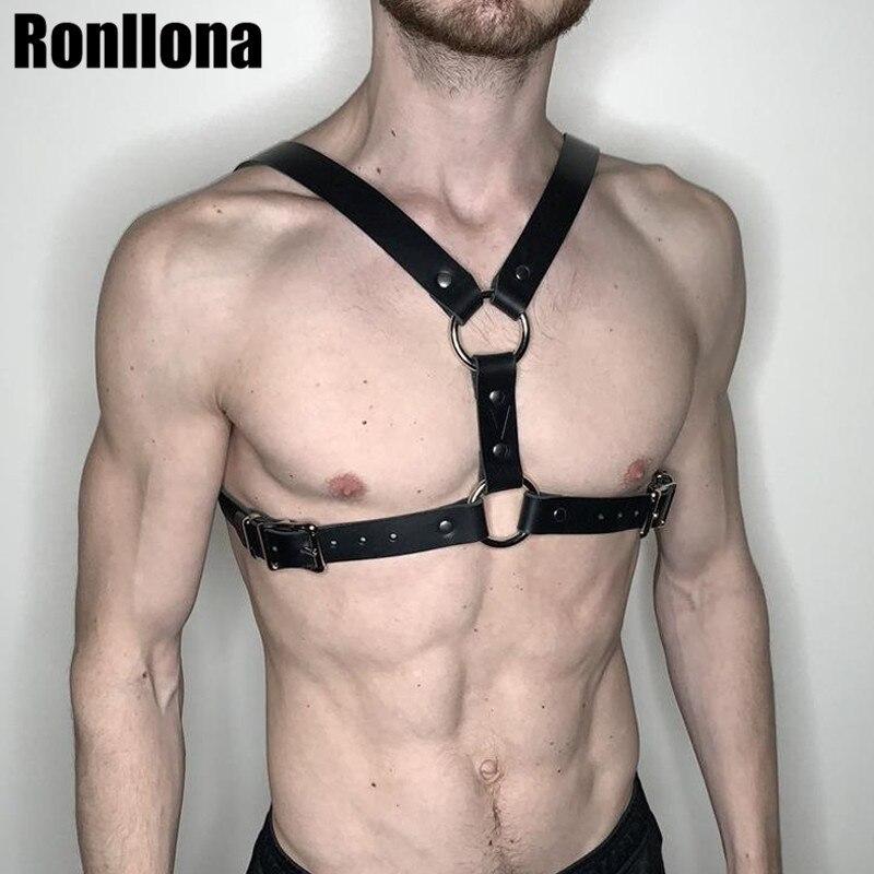 Harness Leather Men Garter   Belt   Suspender Body Bondage Cage For Sexy Men Harness Shoulder Punk Goth Bdsm Bondage   Belts   Male Rave