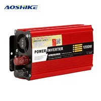 Aoshike 600W 1200W 2000W DC 12V To AC 220V Vehicle Car Inverter Power Supply Switch Charger