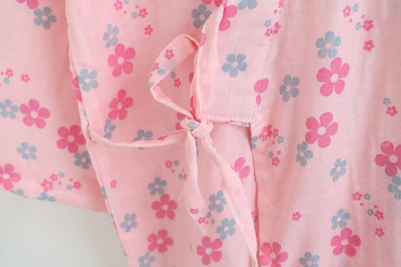 women\'s bathrobe cotton floral high quality