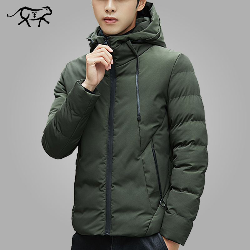 Men Coat Jacket Parkas Outerwear Hoodies Warm Fashion New-Brand Casual Man Slim-Fit Male