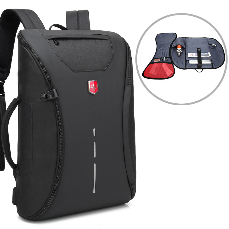 Multifunction USB Charging Men Backpack Anti Theft 15 6 Inch School Notebook Bag Swiss Oxford Waterproof