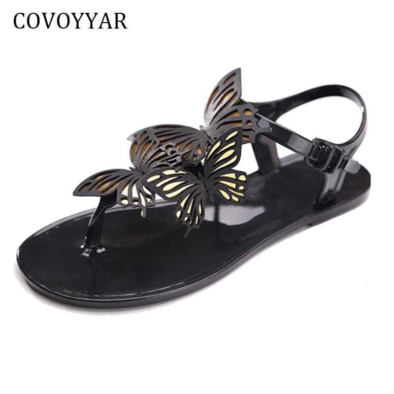 4593db66827c95 COVOYYAR Sweet Butterfly Women s Sandals Ladies Jelly Shoes 2019 New Summer  Flat Women Flip Flops Plus