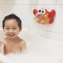 Новое поступление Пузырьковые крабы и лягушки Детские Игрушки для ванны смешная Ванна машина для создания пузырьков бассейн Ванна для купания мыльная машина игрушки для детей